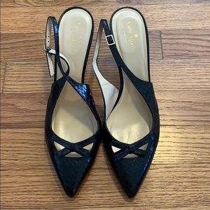 Kate Spade New York black slingback heels sz 8.5